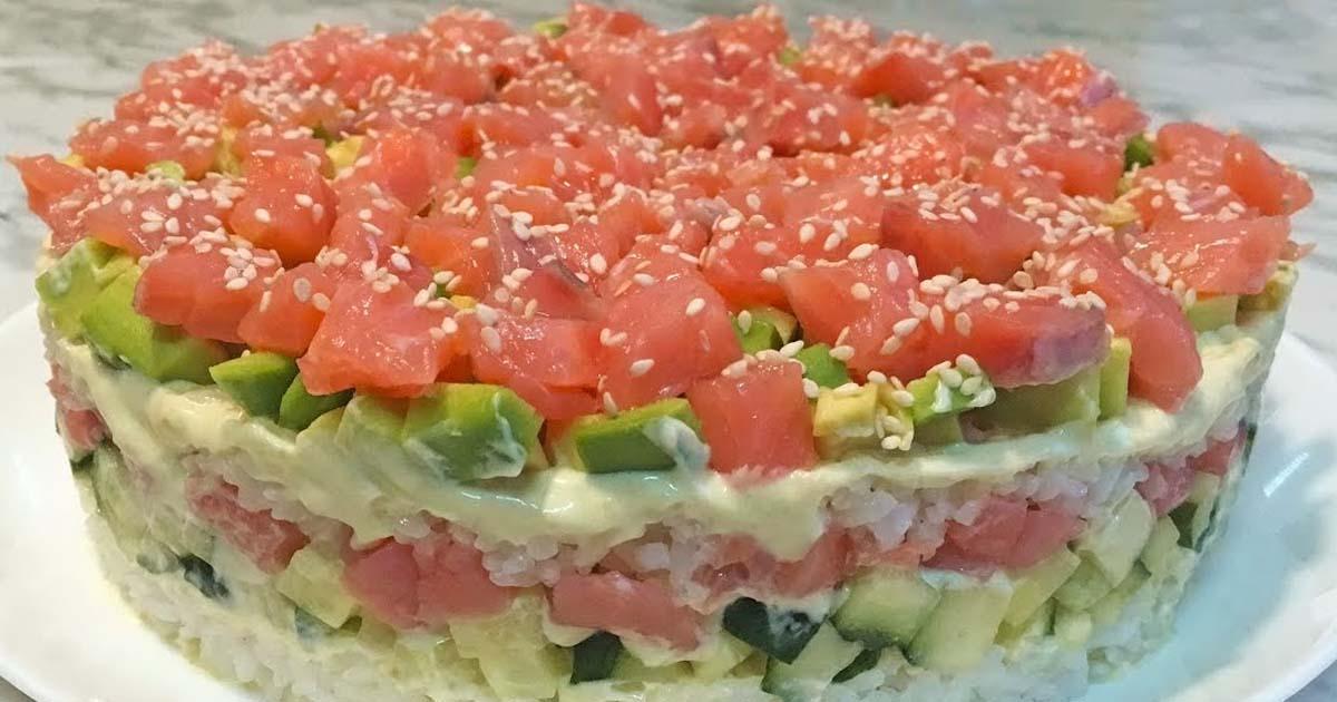 спортивная сумка салат суши слоями рецепт с фото своих фантазиях